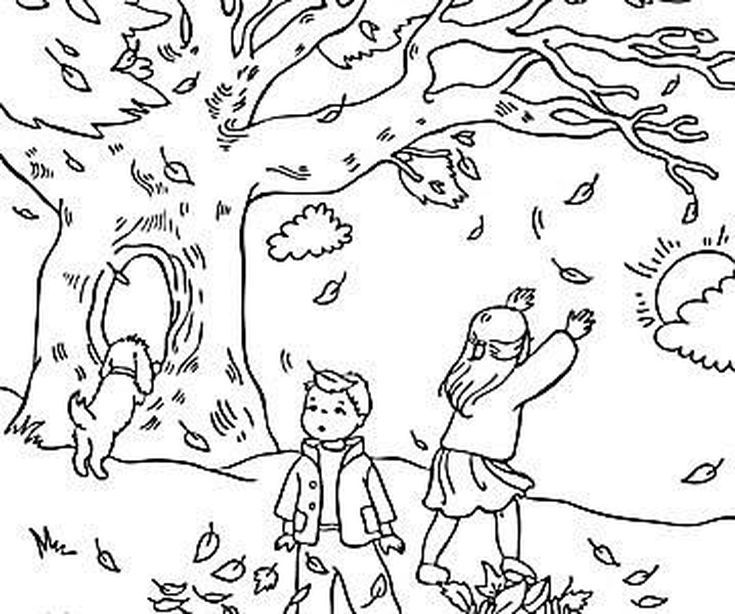 activity village coloring pages autumn - photo#6