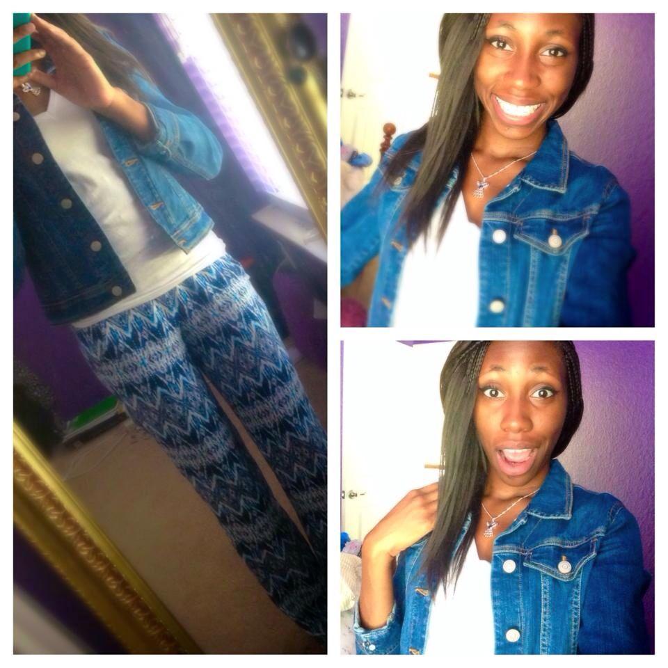 Jean jacket & sassy pants