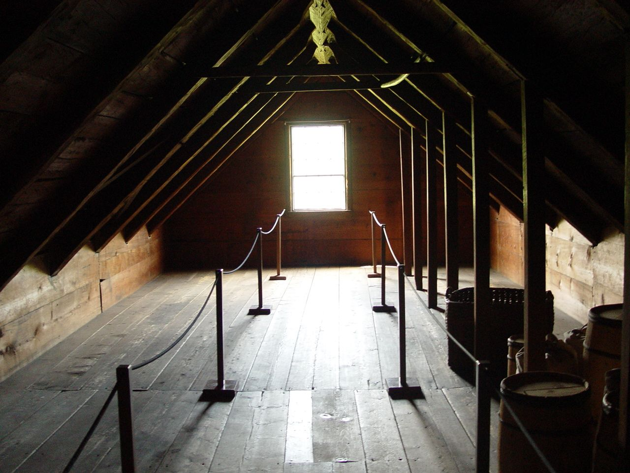 The Attic Of The Dutton House At Shelburne Museum Supposedly Haunted By The Ghost Of An Old Man