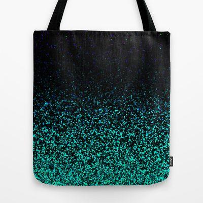 Mint Sparkle Tote Bag By M Studio 22 00