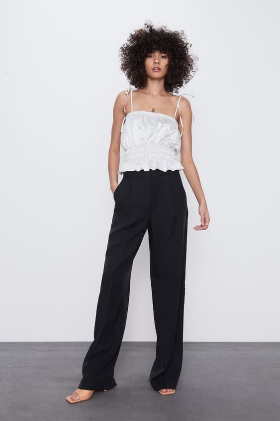 Photo of WIDE LEG PLEATED PANTS
