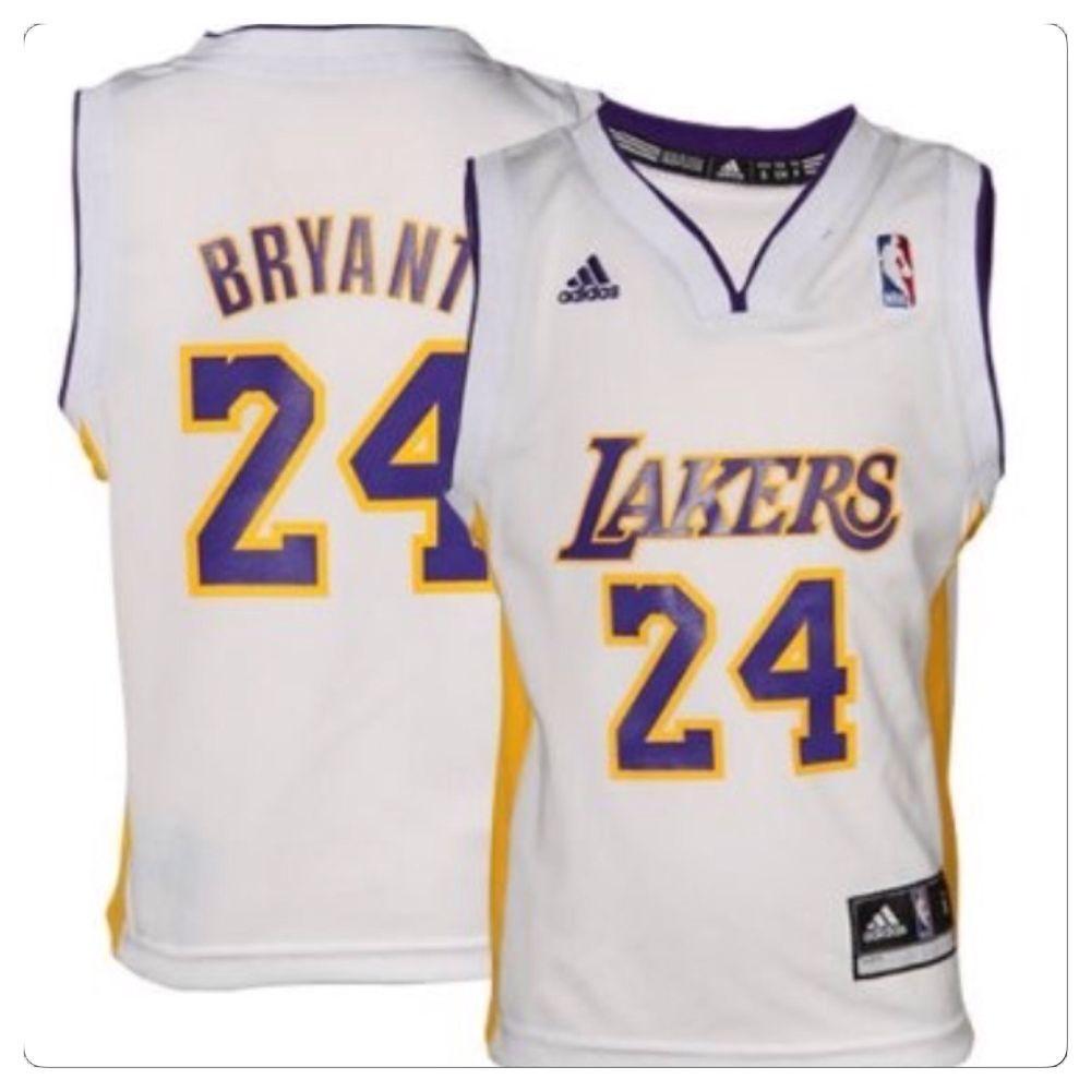 Toddler Los Angeles Lakers Kobe Bryant Adidas White Jersey Size 3t Kobe Bryant Los Angeles Lakers Kobe Bryant Kobe Bryant