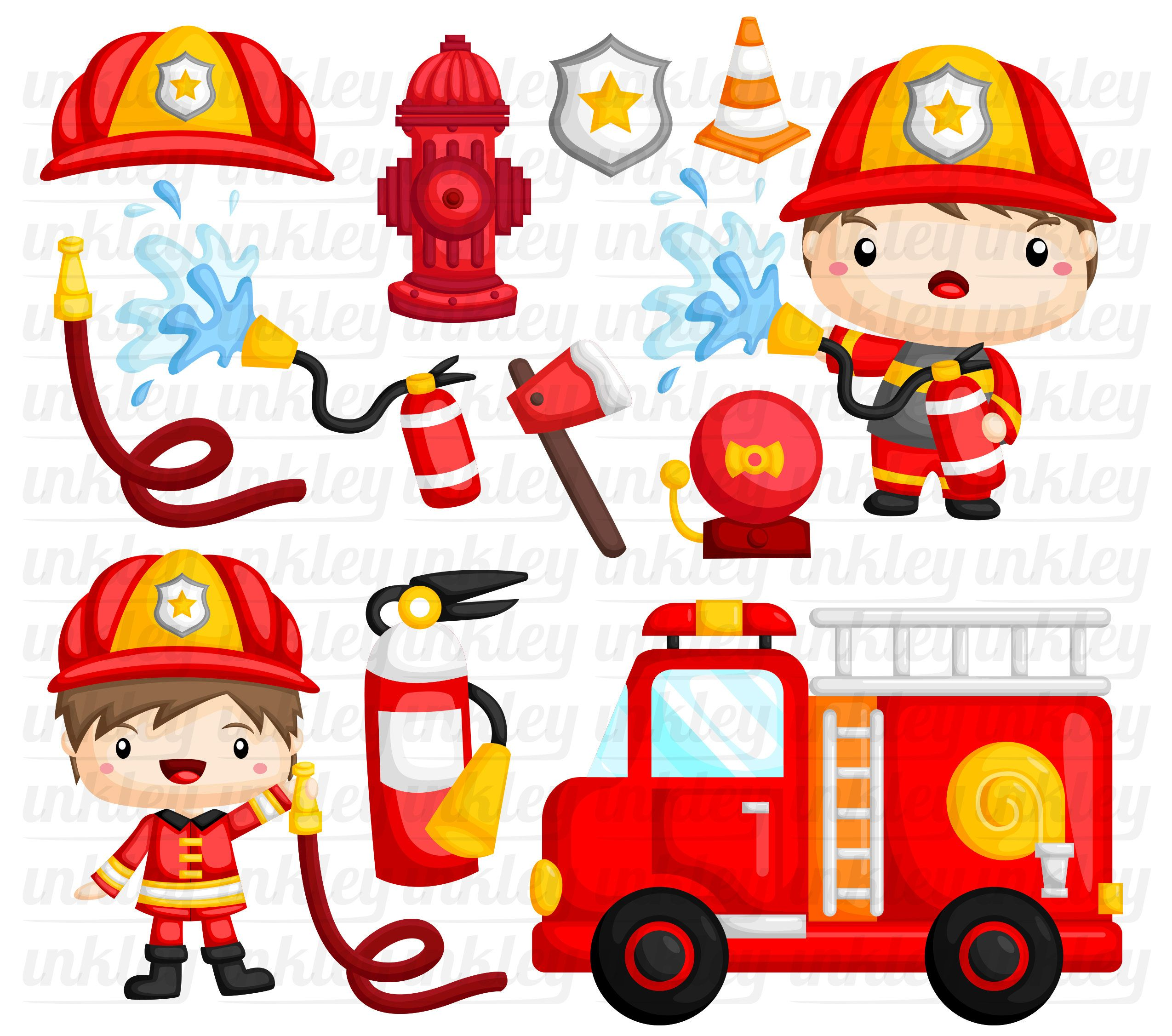 Cute Fireman Clipart Job And Occupation Clip Art Profession Free Svg On Request Clip Art Firefighter Clipart Fireman