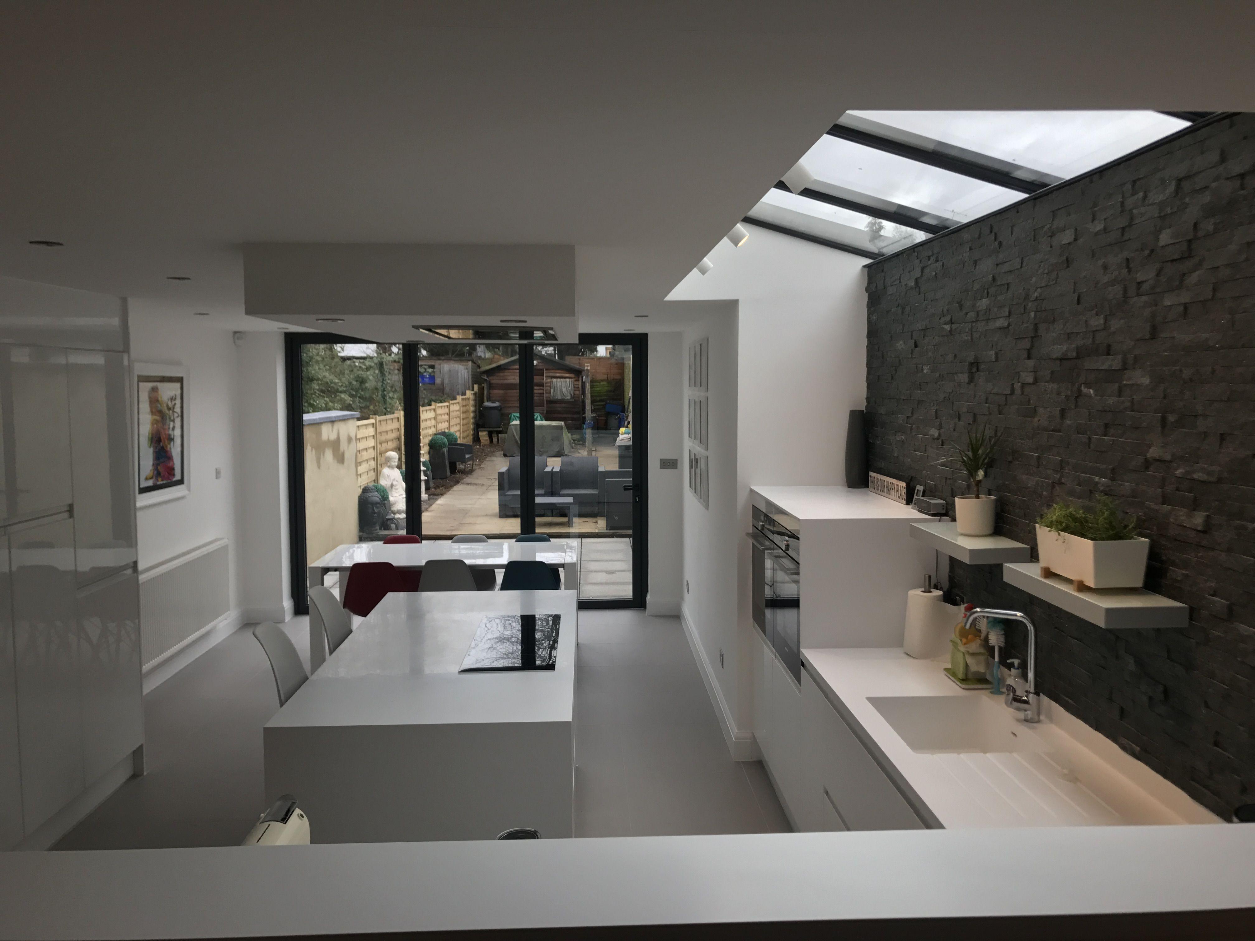 Glass Fliser Til Kj?kken : Victorian side return extension glass roof ...