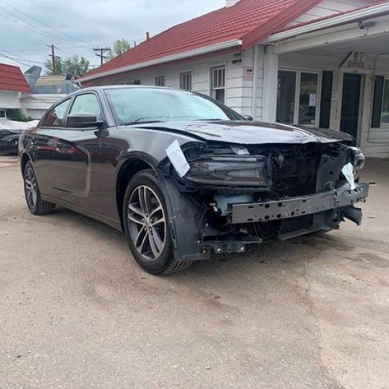 This 2019 #dodge #charger Sustained Front End Damage. This