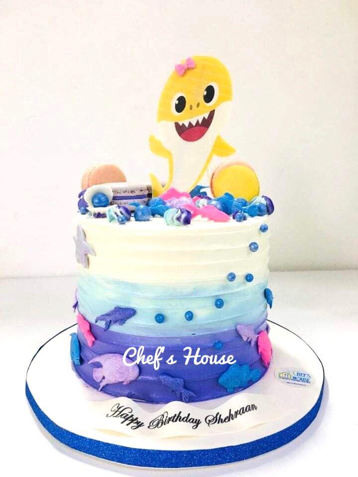 Baby shark theme cake in 2020 themed cakes cake
