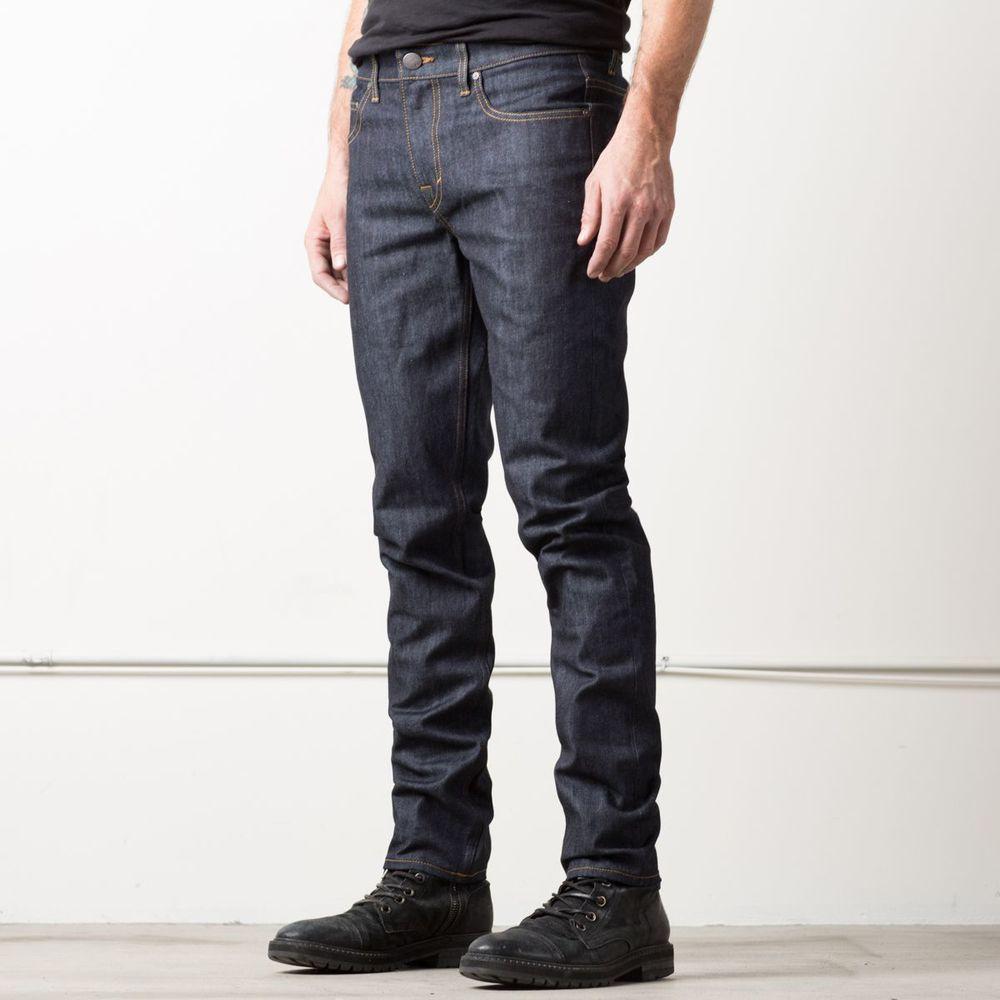 [Skinny Slim] Skinny-Slim 12.75oz Raw Denim Jeans in 24-dip Indigo - Timber