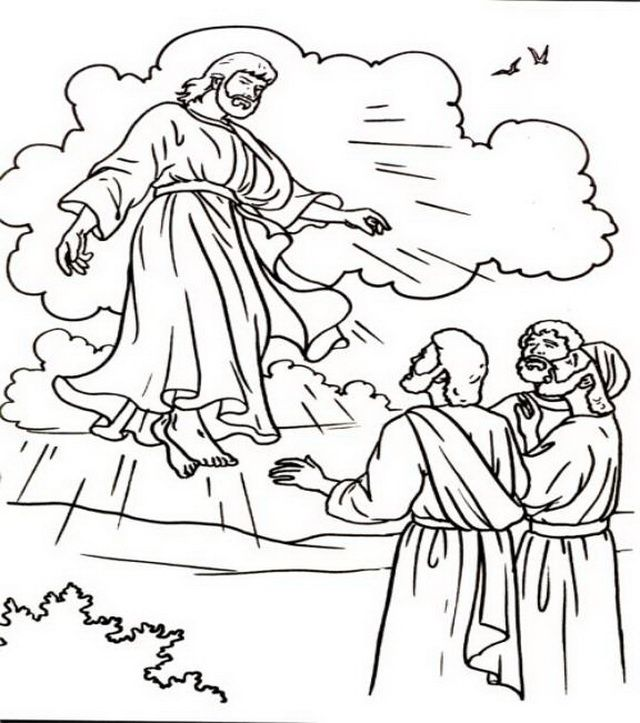 Ascension Of Jesus Christ Coloring Pages Sunday School Coloring
