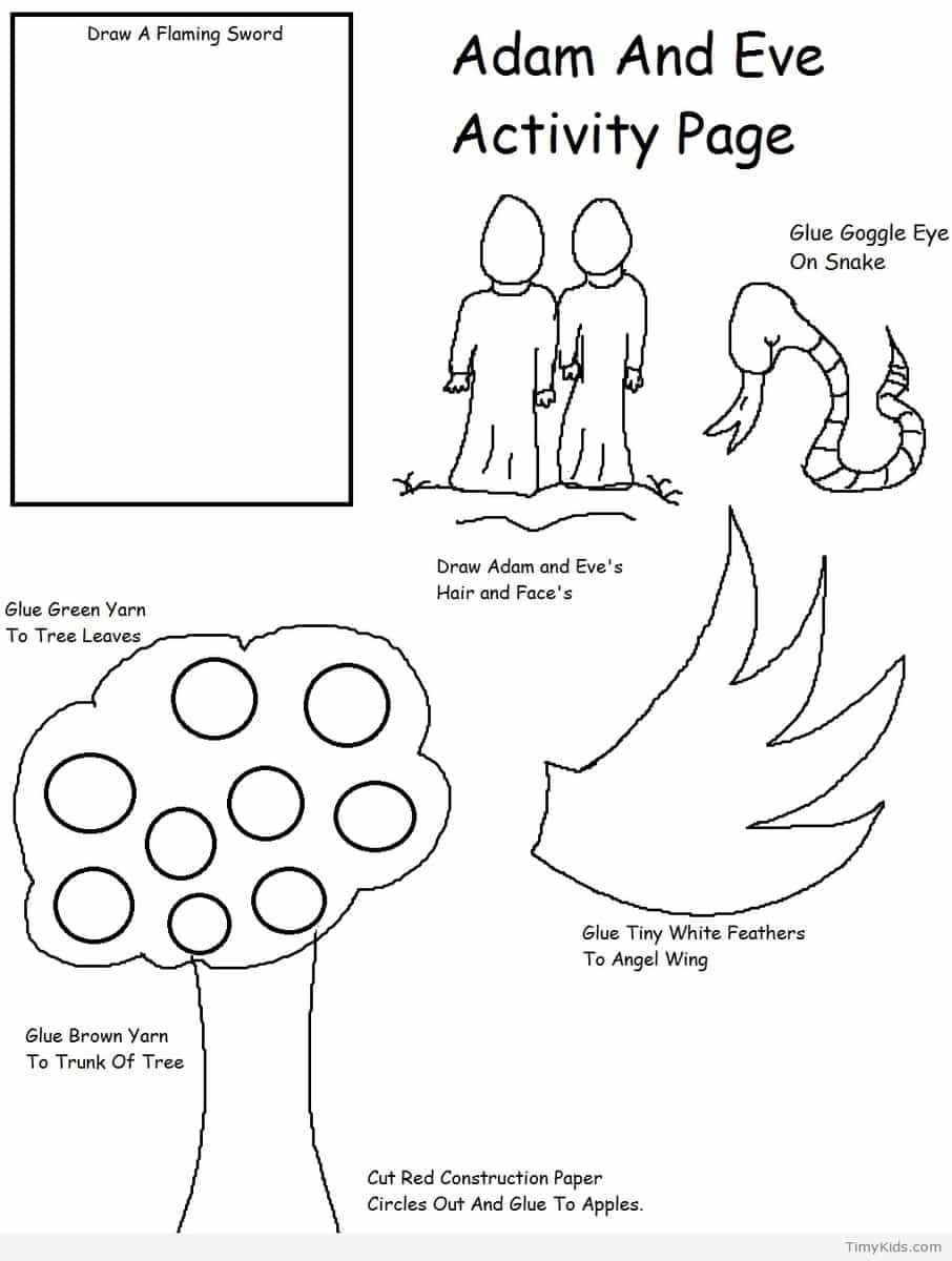 http://timykids.com/adam-and-eve-crafts-for-kids.html | Colorings ...