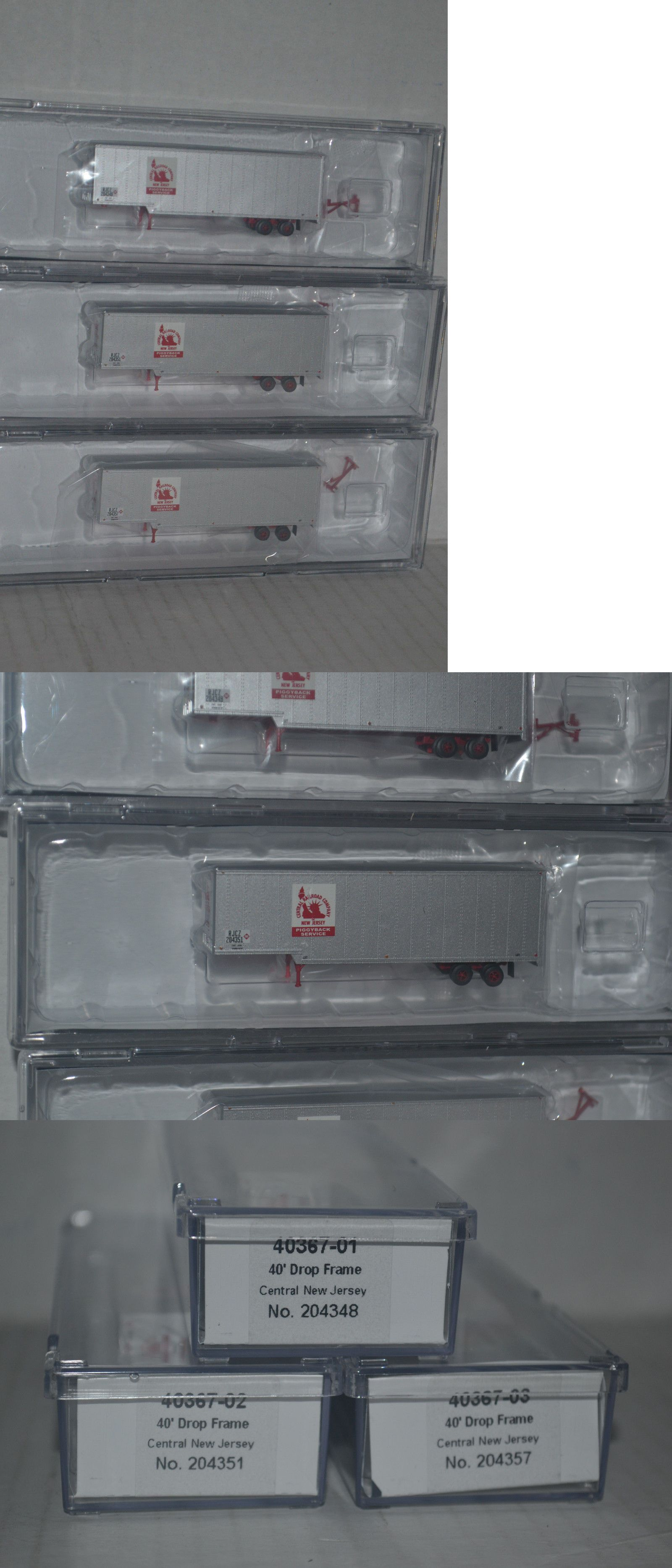 Other N Scale 486: 3 Trainworx Central Rr New Jersey 40 Drop Frame ...