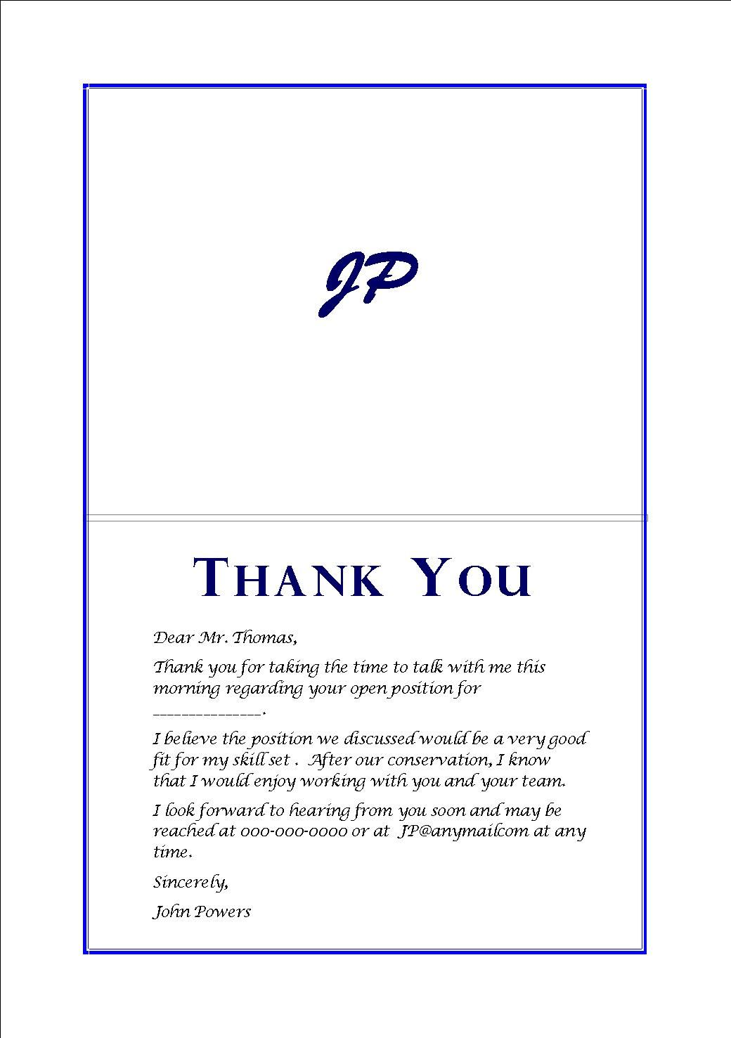 Market Research Interviewer Resume Thank You Cards After Interview 2013 Pinterest