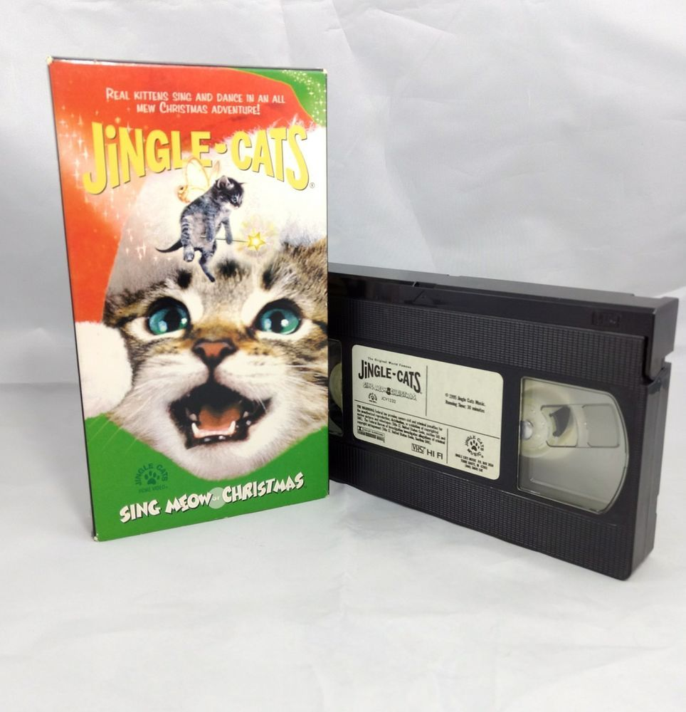 Jingle Cats VHS Sing Meow of Christmas Musical Christmas Cat