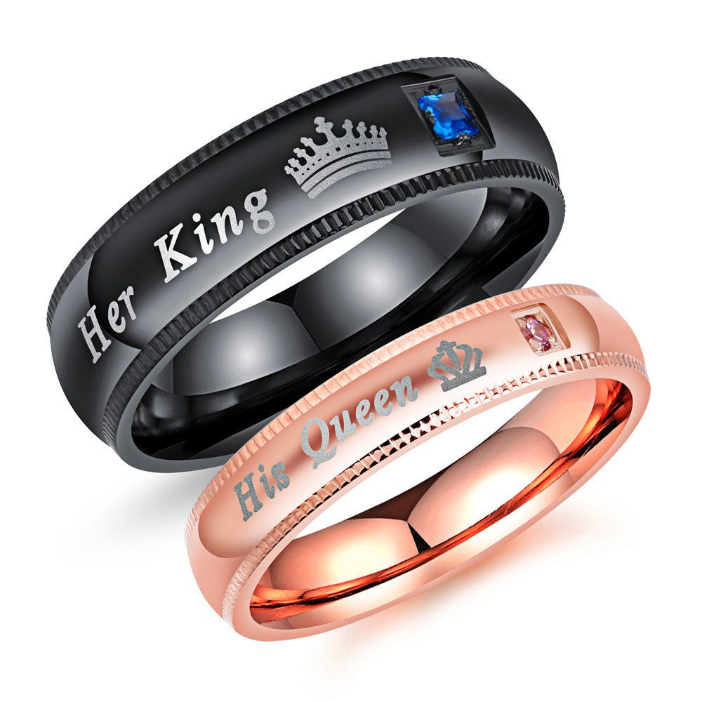 Stainless Steel His /& Hers Lovers Matching His Queen Her King Couple Bracelet PH