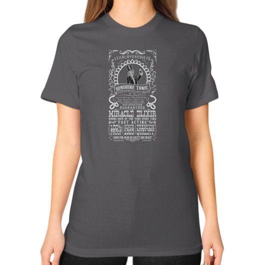 Ye Ol' Sunshine Tonic (Inverted) Unisex T-Shirt (on woman)