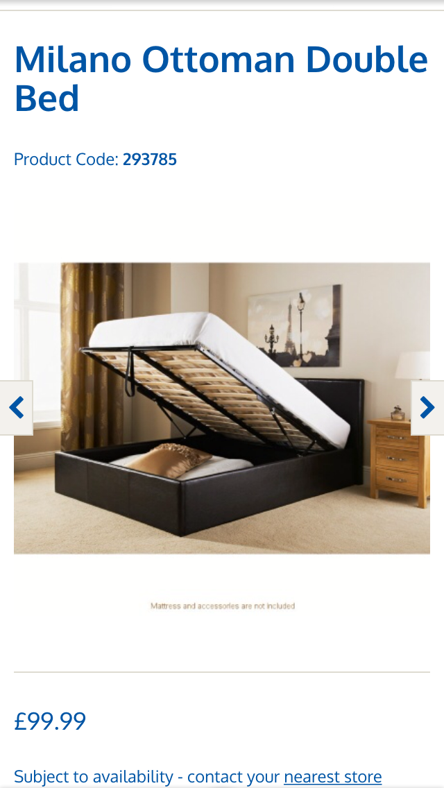 Lift up bed B&M