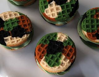 life is sweets camouflage cupcake sandwiches great for a military