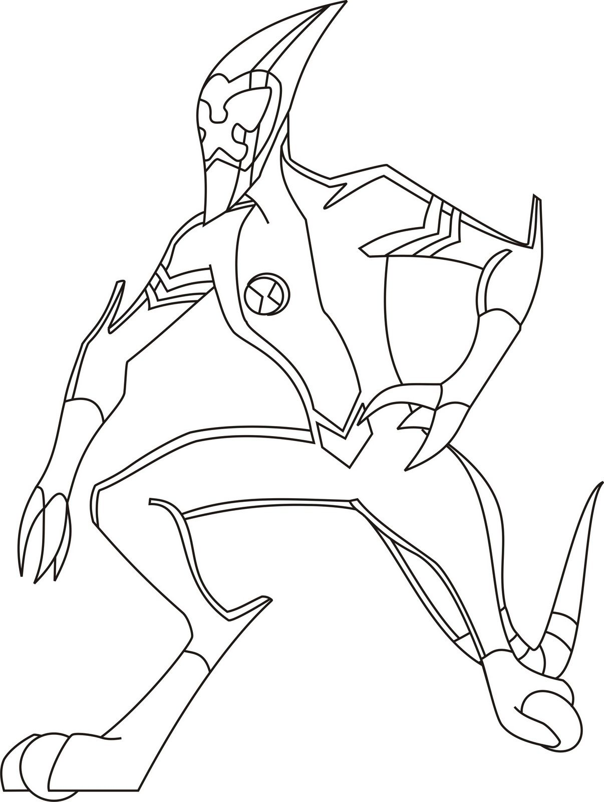 Ben 10 Heatblast Is Ready To Attack Coloring Page Minion Coloring Pages Coloring Pages Online Coloring Pages
