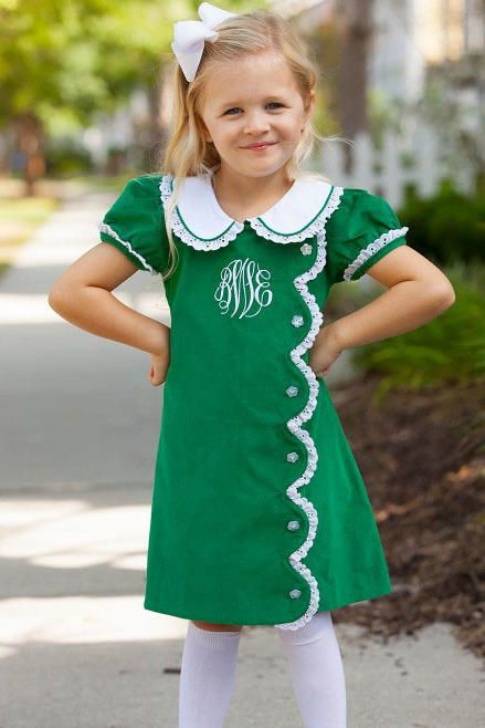 7f27684ba777 Kelly Scallop Dress - Our Favorite Smocked Fall Dresses For Little Girls -  Southernliving. Buy It: $29; shrimpandgritskids.com We just adore the  details on ...