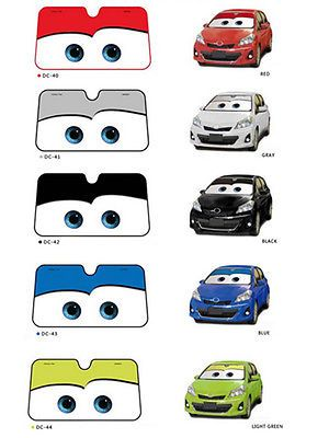 New Disney Big Eyes Pixar Cars Lightning Front Car Windshield Sun ...