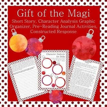 Gift of the Magi Short Story with Activities | Character analysis graphic organizer, Graphic ...