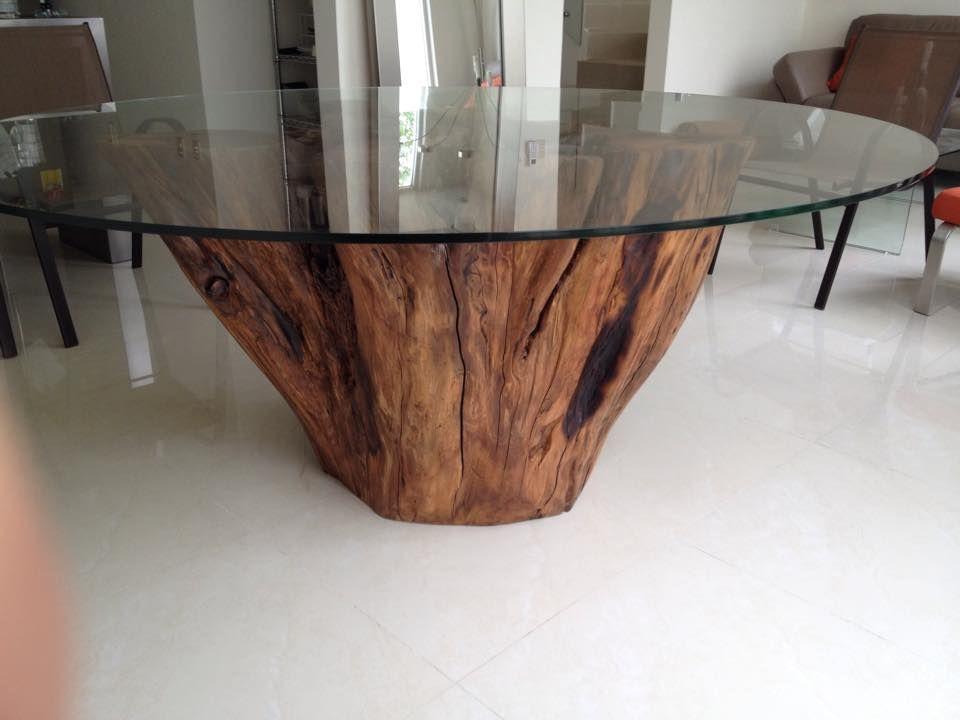 Base de raiz de sabino para mesa 8 personas mobiliario for Mesas de troncos de arboles