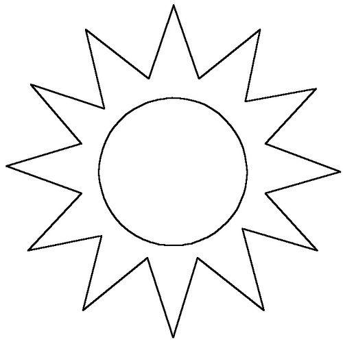 Moldes Del Sol En Foami Imagui καλοκαιρι Coloring Pages Sun