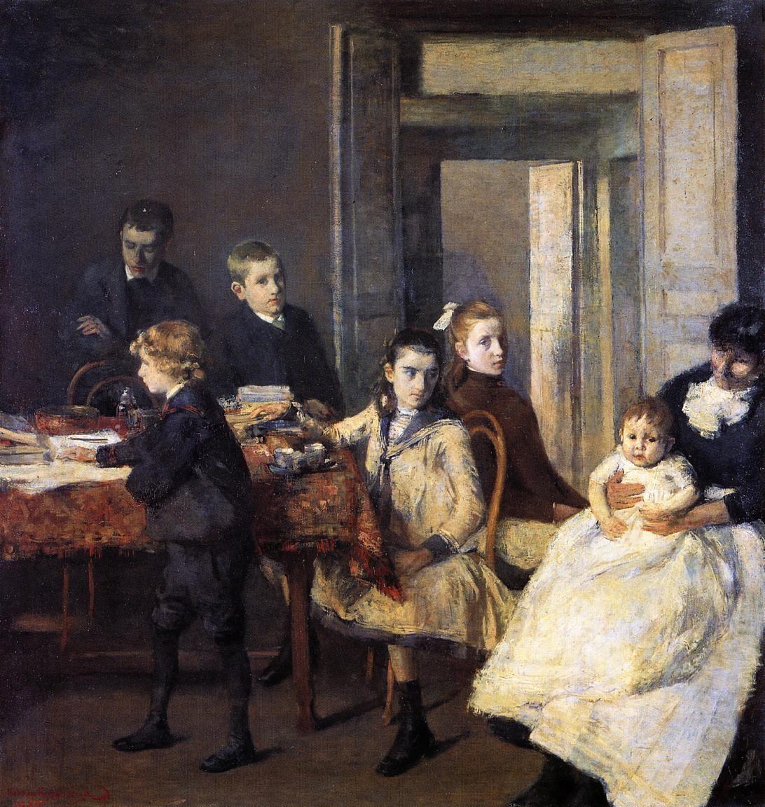 The Children of Francois van Rysselberghe, 1885  Theo van Rysselberghe