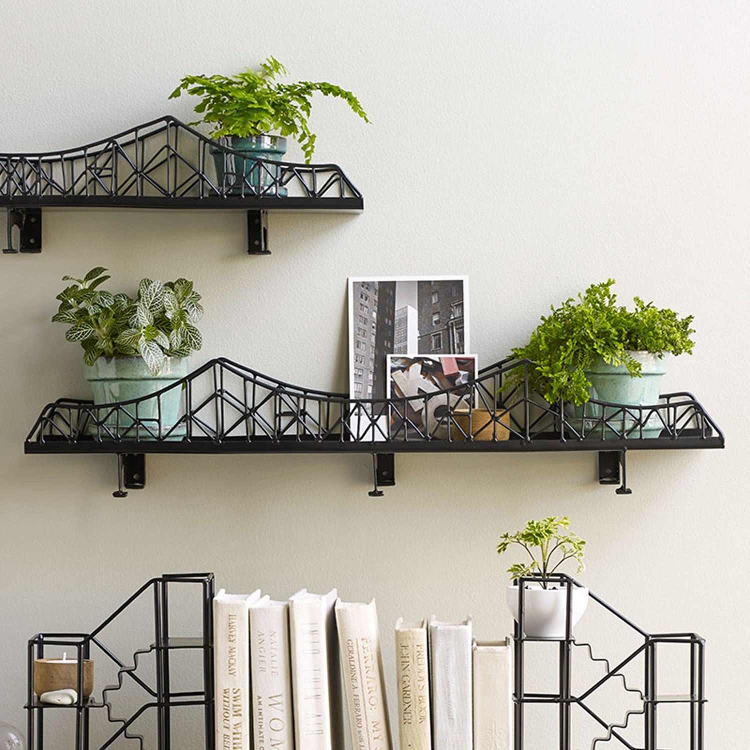If you're a fan of our Fire Escape Shelf Unit you'll love this new edition to the range.This urban accessory will provide safe passage for candles, potted plants or any curios you wish to display.Can be wall hung or as it comes complete with six legs with padded feet this unit can also be freestanding and would make a unique focal point. Try it in the middle of a dining table to hold condiments or a row of candles, or even on your desk as a letter rack come stationery holder.As each piece…