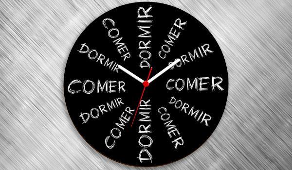 dd0e378f291 Relógio de Parede Comer dá Sono   Dormir dá Fome - nerdstore