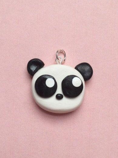 Polymer clay panda charm baby panda panda charm by KawaiiCreationz, $6.00 #babypandas