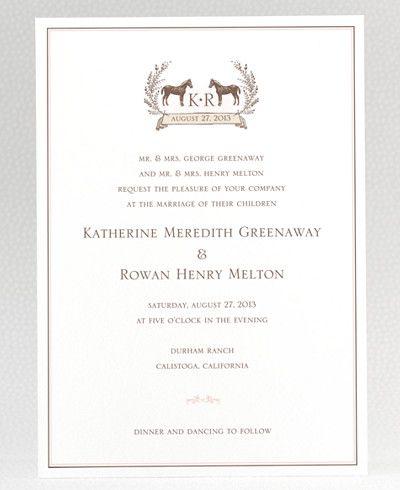 elegant equestrian wedding invitation i want cows instead