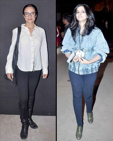 Our photogs spotted #FarhanAkhtar's wife and hair stylist #AdhunaAkhtar. Also seen here was #SonamKapoor's sister and stylist #RheaKapoor.  To Know More Visit www.biscoot.com #LakmeFashionWeek