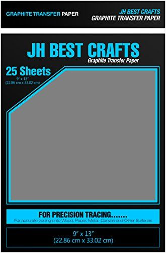 jh best graphite transfer tracing carbon paper 25 sheets 9 x 13