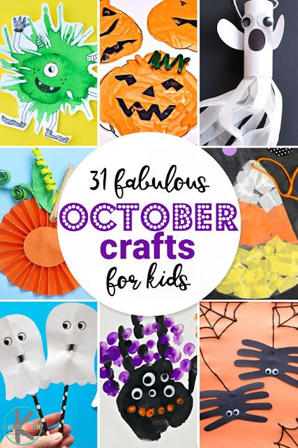 NEW! 31 Fabulous October Crafts for Kids #octobercrafts