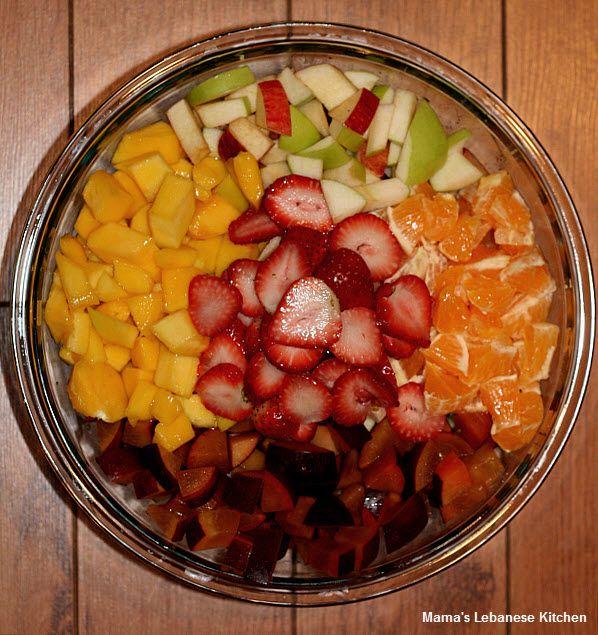 Simple Fruit Salad Recipe Lebanese Style Recipe Fruit Salad Recipes Recipes Recipes With Fruit Cocktail