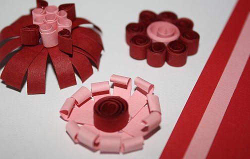 Quilling-Blumen basteln Basteln mit Papier Pinterest - blumen basteln