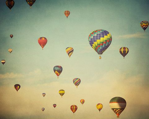 hot-air balloon print (by irene suchocky / eye poetry)