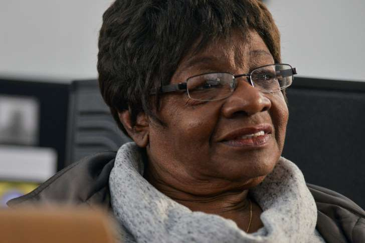 Gwen Hebron Reese, 73, sits in St. Paul Community Church in the Sugarland community.: Sugarland: A Community Founded by Former Slaves
