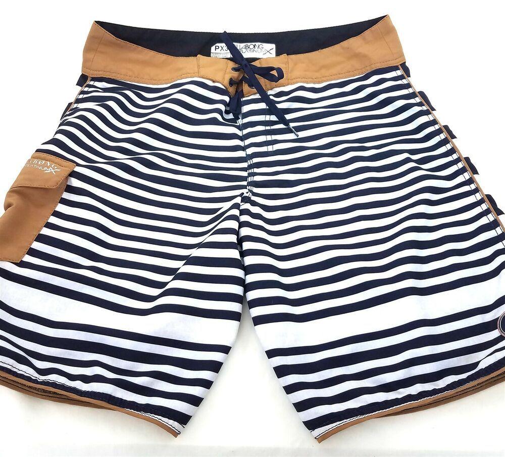 a9cb213825c4 (eBay Sponsored) Billabong Platinum X PX3 Board Shorts Swim Trunks Blue  Brown Striped Mens
