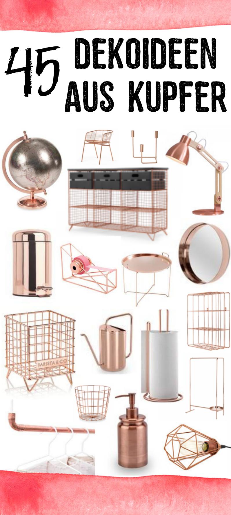 Kupfer-Stil  Kupfer einrichtung, Kupfer deko und Dekoration