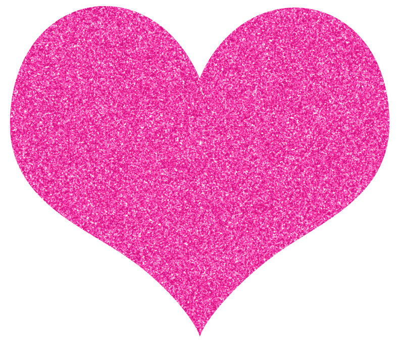 California heart. Pink sparkly clipart tagged