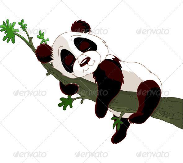 Panda Sleeping On A Branch Panda Art Cute Panda Wallpaper Cute Panda