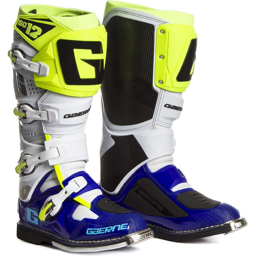 Gaerne 2017 Sg 12 White Blue Flo Yellow Boots Mxstore Picks