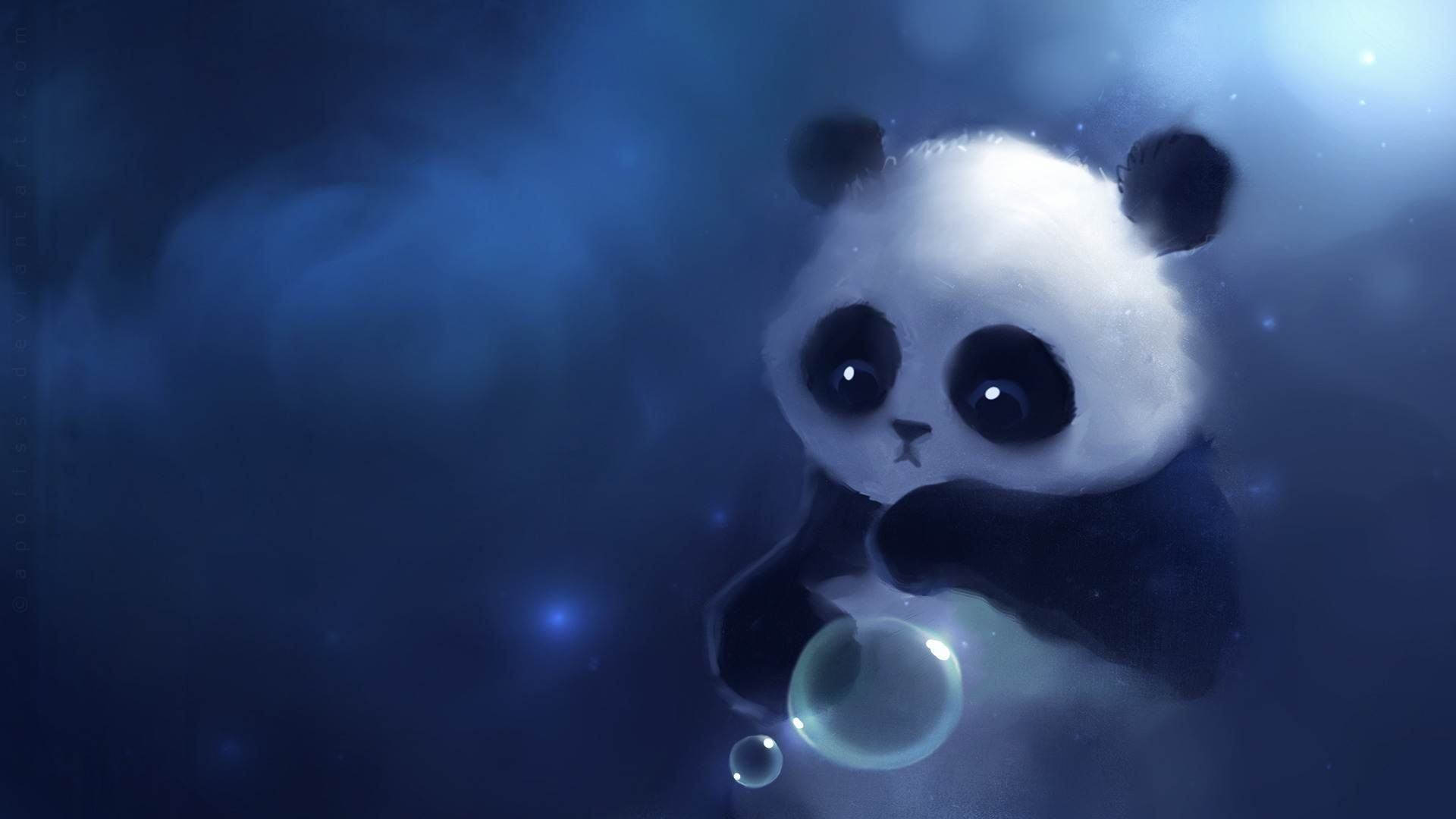 Blue Girly Wallpapers High Resolution For Desktop Wallpaper 1920 X 1080 Px 623 08 Kb Girl Chevron Quotes Ipho Panda Art Cute Panda Cartoon Cute Panda Wallpaper