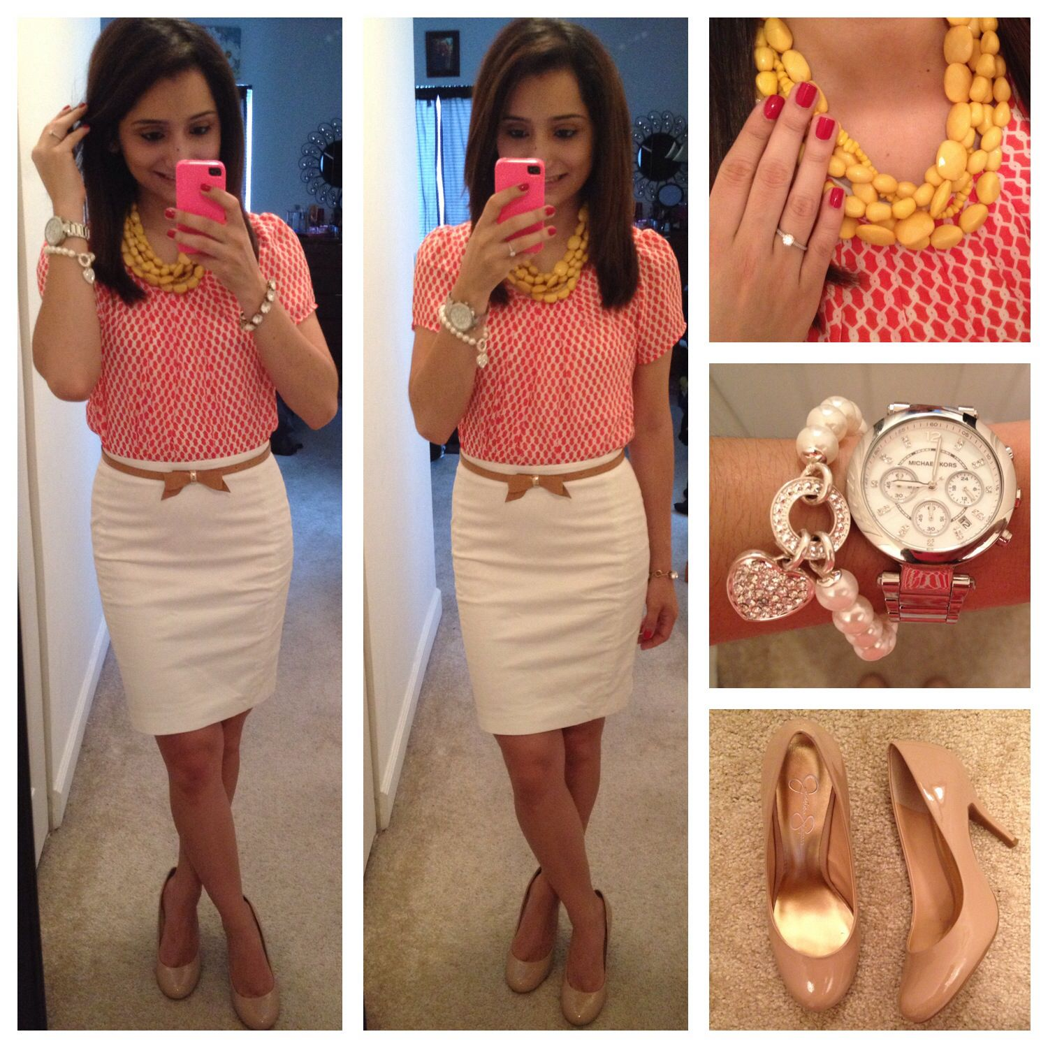 Office outfit from Pearls and Pink Pensu0026#39; Instagram ...
