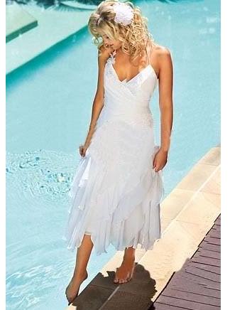 love this simple beach wedding dress.... Rayban sunglasses just ...