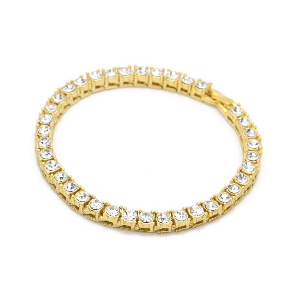 K gold plated iced out row bracelet products