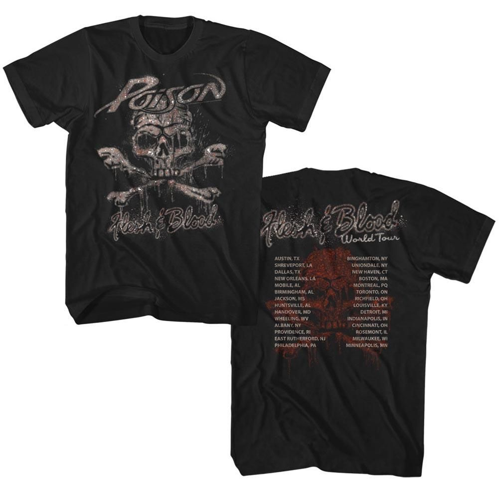 Poison Flesh And Blood World Tour T Shirt Products Shirts Tour