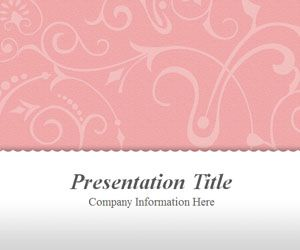 Vintage Floral Pink Powerpoint Template Dengan Gambar
