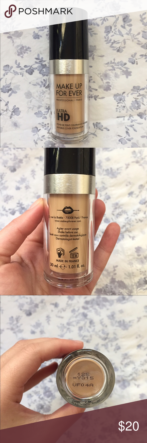 Makeup Forever HD foundation 125 sand shade 125 sand! Used